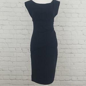 Diane Von Furstenberg Navy Sleevless Dress